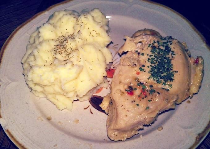 Garlic Wine and Herb Chicken