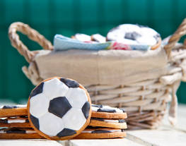 Galletas glasa balón de futbol