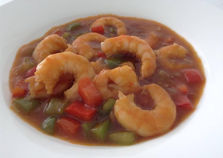 Crevettes et légumes à la sauce chinoise
