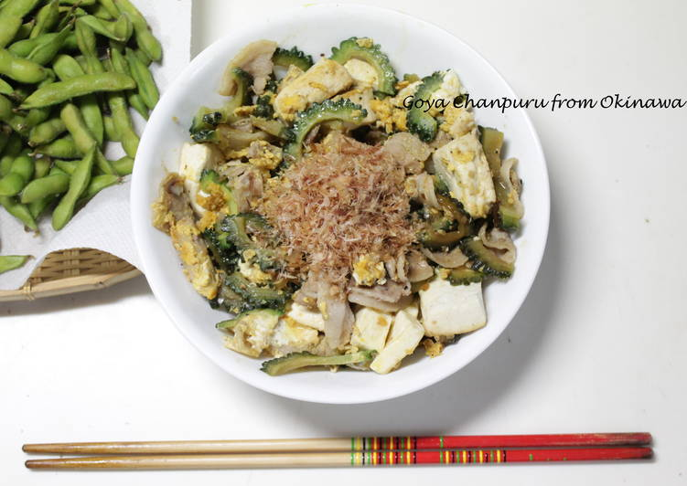 Recipe of Quick Goya Chanpuru, Okinawan Cuisine