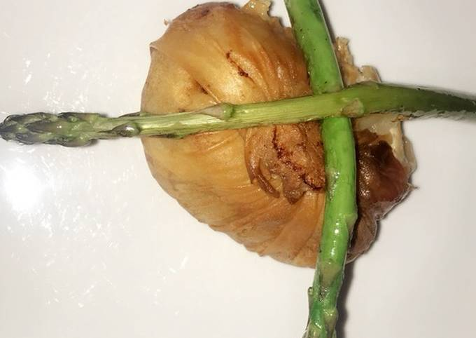 Chicken breast wrapped in filo pastry