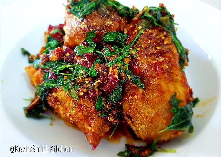 Simple Way to Prepare Quick Spicy Basil Cod Fish