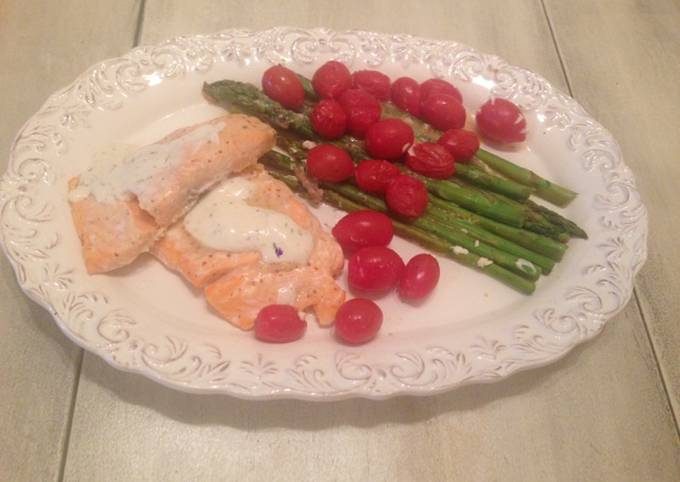 Easy Bake Salmon With Vegetables