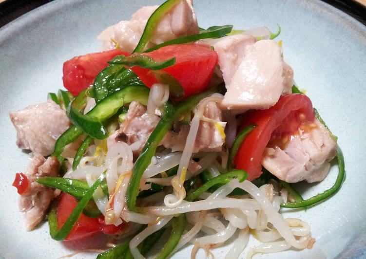Chicken and Green Pepper Salad