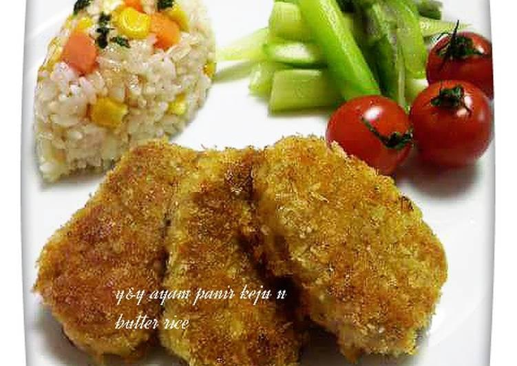 Cara Memasak Resep Yummy Dari Ayam panir keju n butter rice ❤