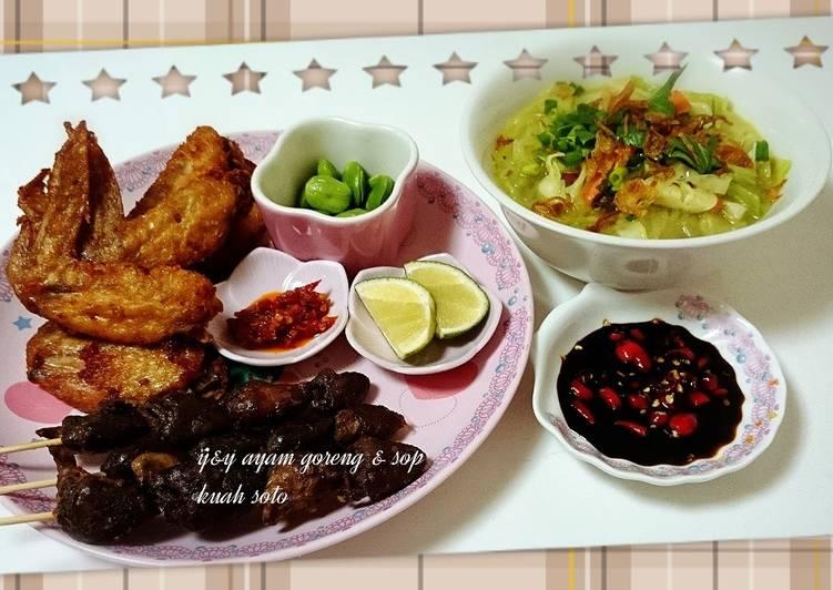 Ayam goreng & sop kuah soto