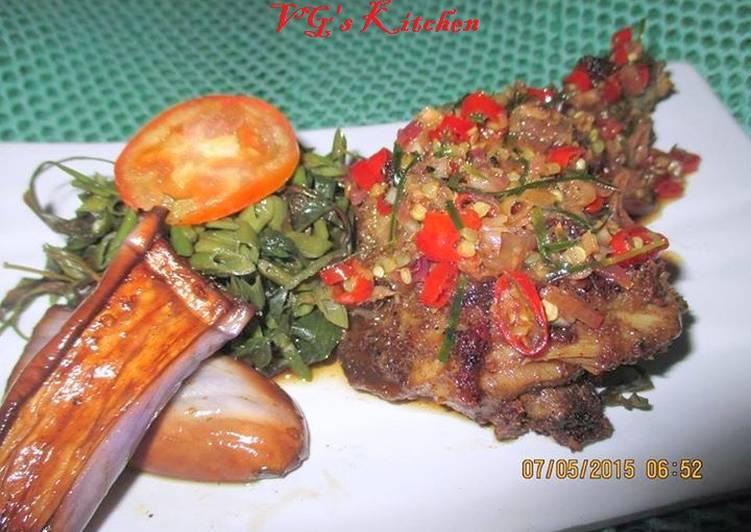 GRILLED CHICKEN SAMBAL MATAH (Ayam Bakar Sambal Matah)