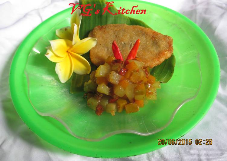 How to Make Ultimate FRIED FISH SAUTEED CUCURBIT (Ikan Goreng Tumis Labu)