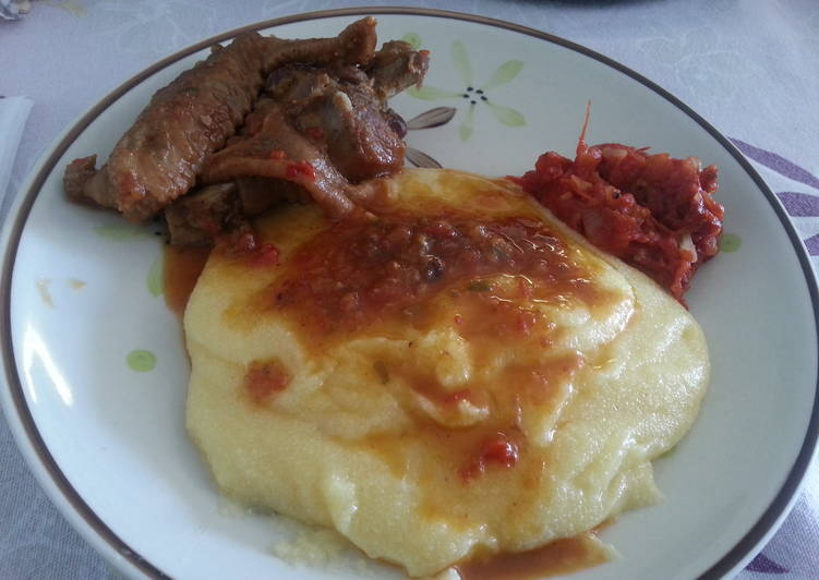 How to Make Appetizing Stewed chicken Creole (organic) with polenta