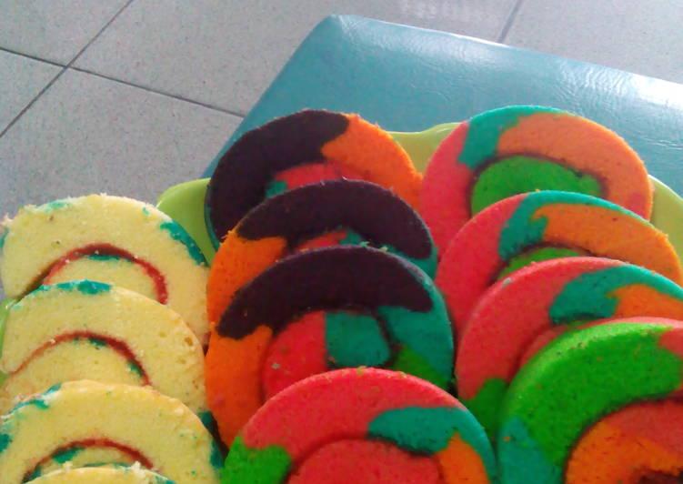 Bolu gulung rainbow
