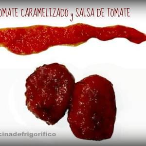 Tomate caramelizado con salsa de tomate