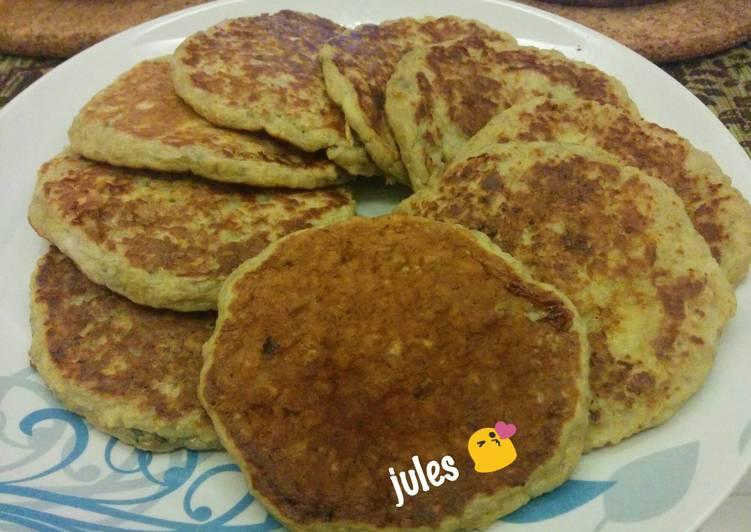 Resep banana oatmeal pancake oleh Jules - Cookpad