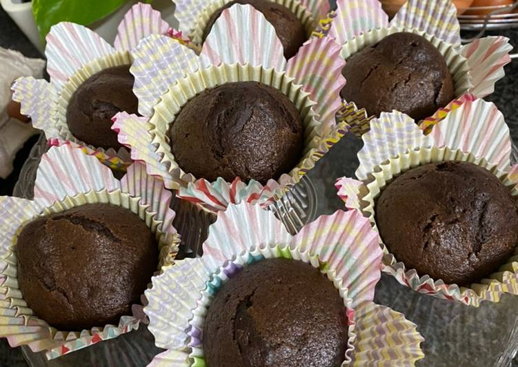 Chocolate cup cakes  (without egg)