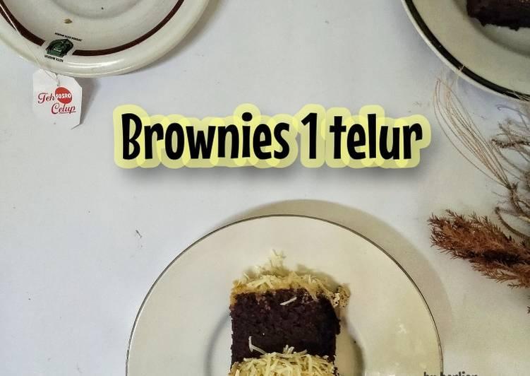 Brownies 1 telur tanpa DCC tanpa mixer