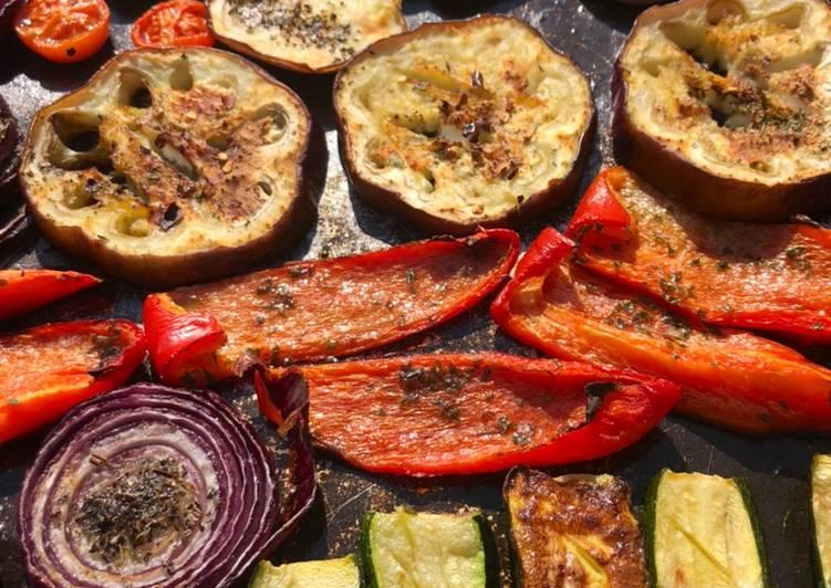 Ricetta Mix di verdure  Cottura nel forno a legna #dispensadimarzo