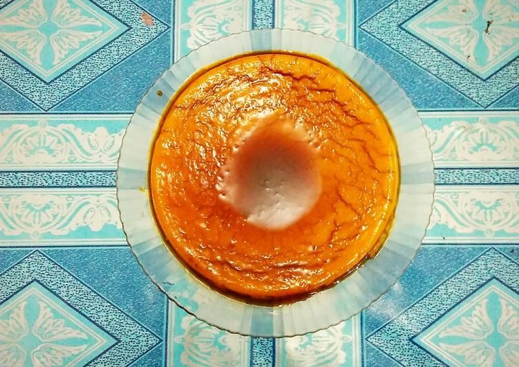 Eggless Caramel Pudding