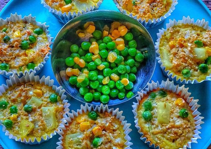 Easiest Way to Prepare Yummy Veggie Oatmeal muffins (zero oil)