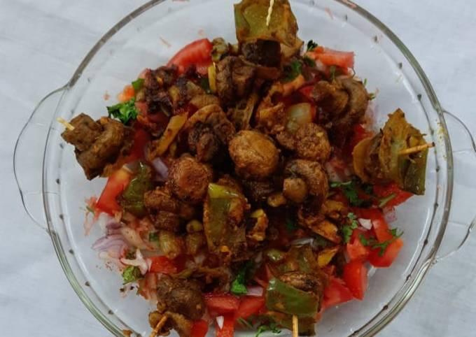 Mushroom masala snacks