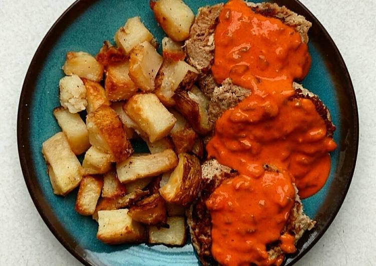 Tuna Patties with Roasted Potatoes