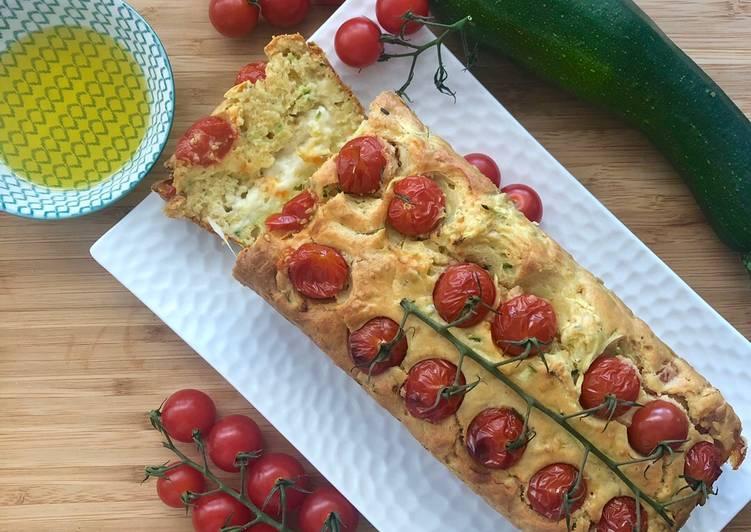 Comment Préparer Les Cake courgette tomate cerise mozzarella