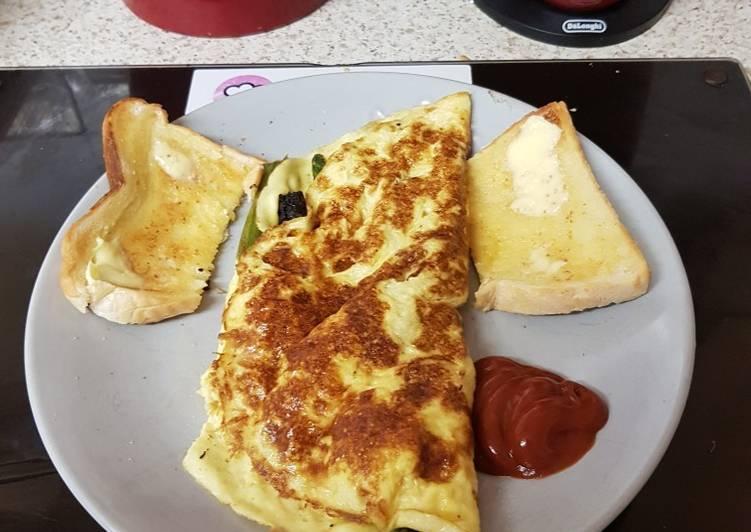 My folded Egg Breakfast with Asparagus