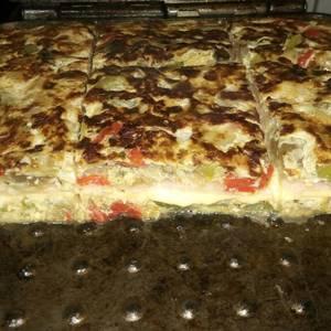 Tortilla de vegetales rellena