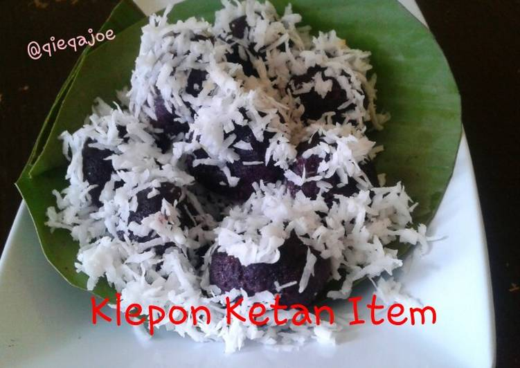 Klepon Ketan Item