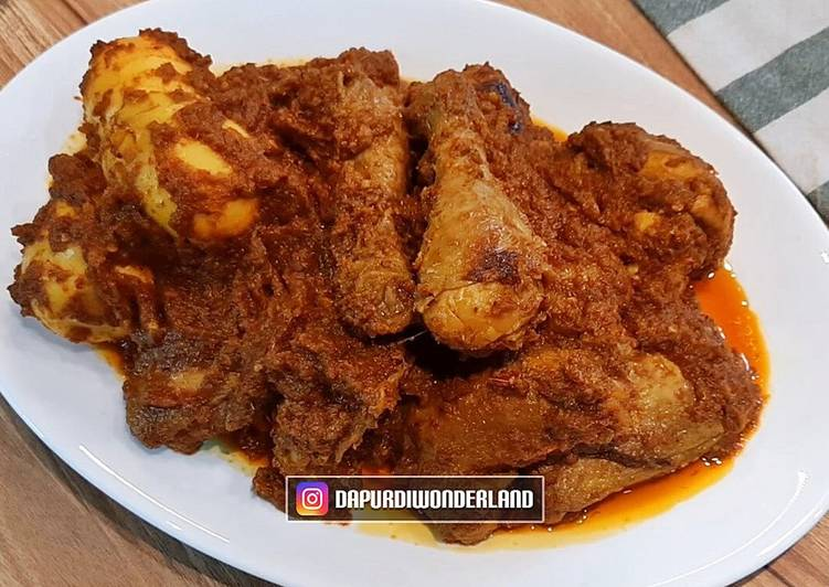 Resep Rendang Ayam Anti Gagal