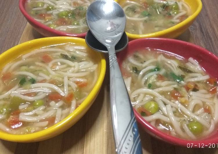 Veg noodles soup