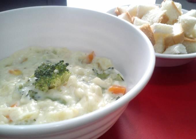 Resep Cream soup brokoli, Lezat
