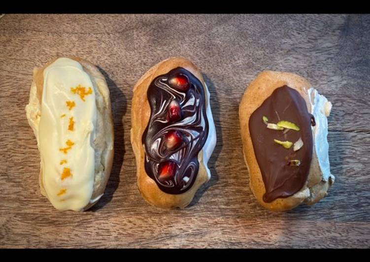 Steps to Make Super Quick Homemade Eclairs (fillings)