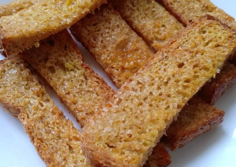 Air fried butter sugar toast - resepipouler.com