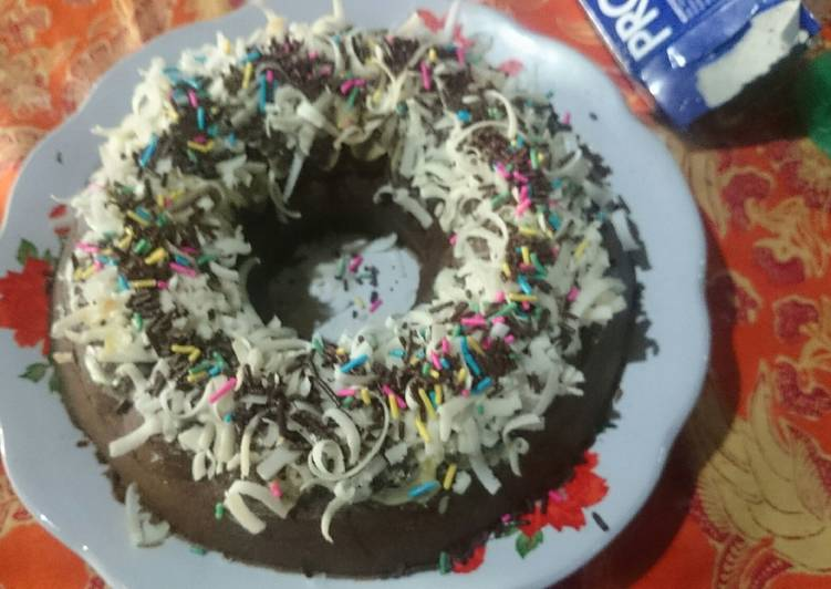 cake full coklat eggless