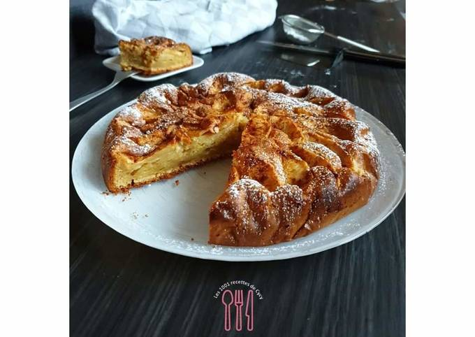 Gâteau pommes & mascarpone