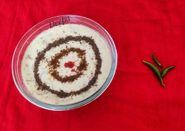 Recipe of Most Popular Chatpata Aloo Raita Potato Raita
