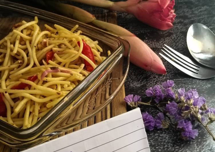 Spaghetti Olio Aglio Kantan #phopbylinimohd #batch18 - velavinkabakery.com