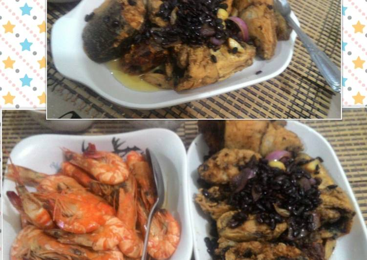 Milkfish with salted black beans