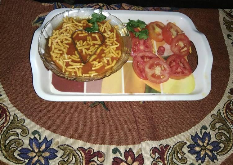 10 Minute Recipe of Favorite Tomato sev sabzi