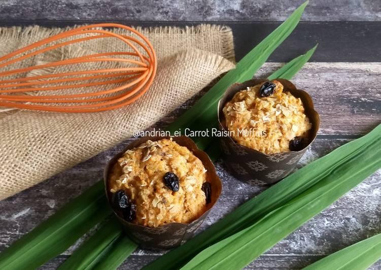 Carrot Raisin Muffins (Muffin Wortel) Tanpa Mixer
