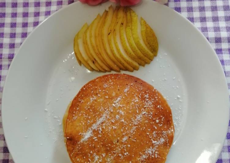 Simple Way to Prepare Ultimate Coconut pancakes