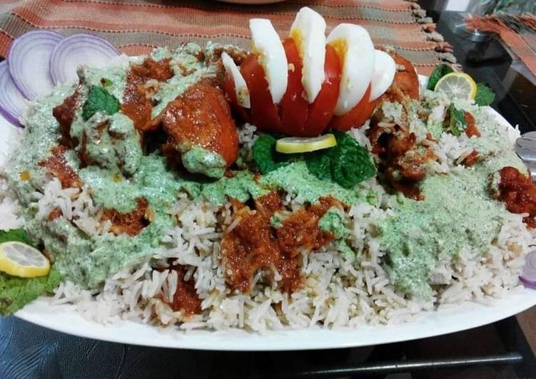 Recipe of Homemade Tandoori Rice 😋
