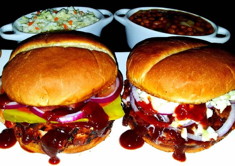 Top 100 Dinner Easy Spring Mike's BBQ Chicken & BBQ Pulled Pork Sandwiches + Sides