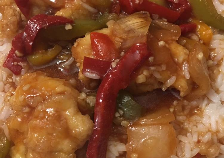 Sweet-and-sour chicken