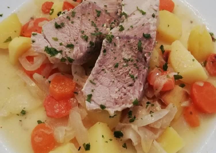 Comment Préparer Les Rouelle de porc à la moutarde et ses légumes
