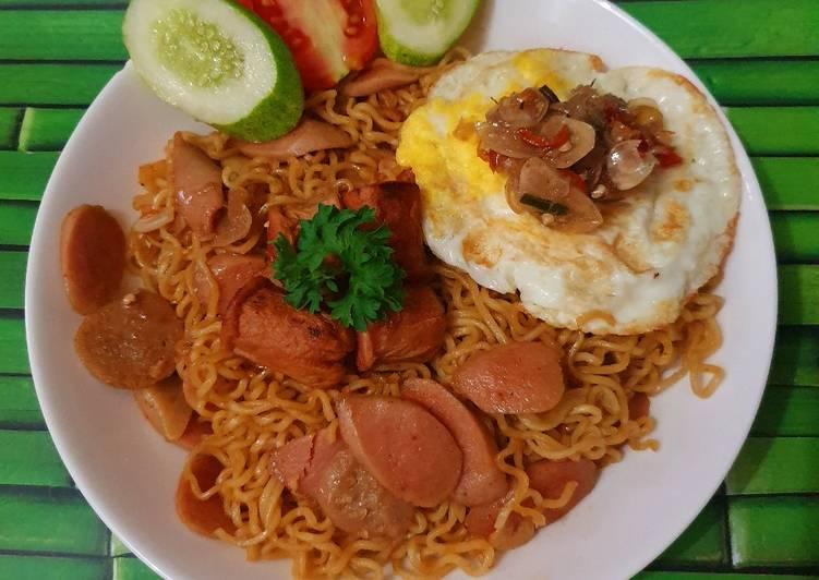 Resep Indomie Goreng Sosis Paling Gampang