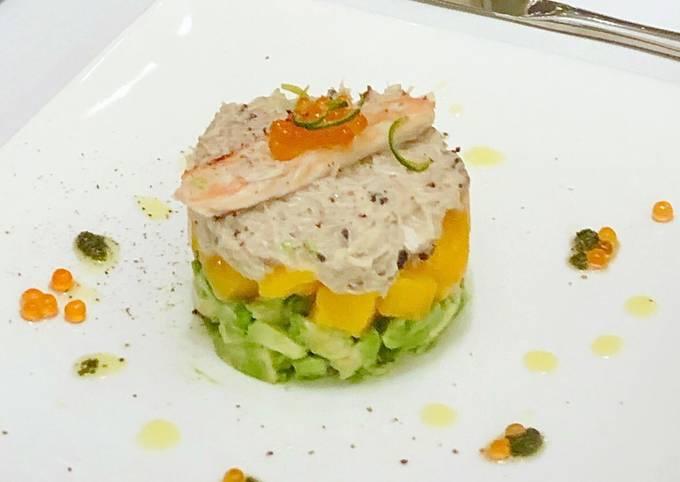 Recipe: Delicious Crabmeat truffle salad with Mango and Avocado