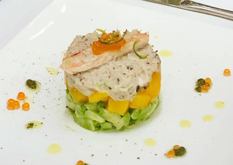 Having This 14 Superfoods Is A Great Way For Your Health, Crabmeat truffle salad with Mango and Avocado