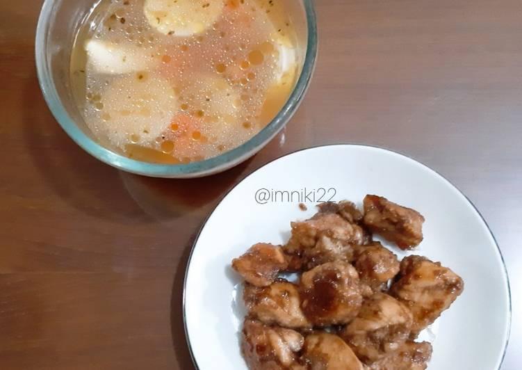 Ayam Bakar Madu dan Sup Jagung (Diet Friendly Meal)