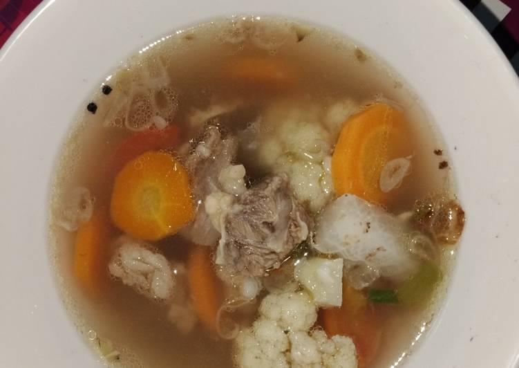 Sop iga mudah dan segar #makanan sehat utk anak balita