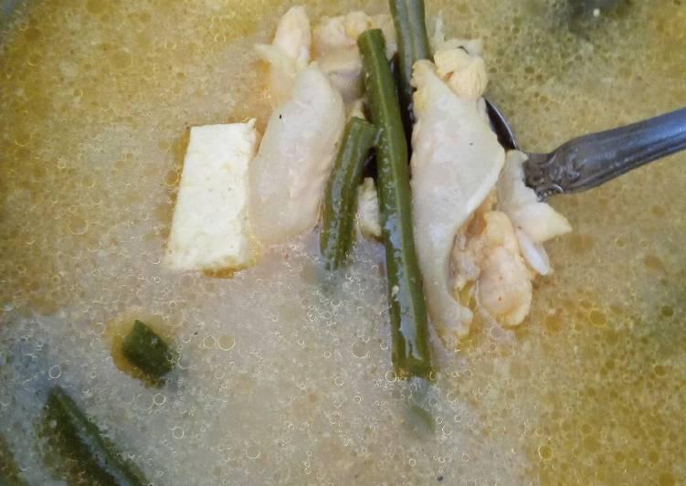 Resep Gule/Gulai fillet kakap tahu buncis Yang Simple Lezat